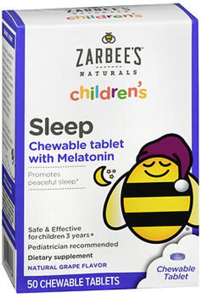 Zarbee's Naturals Children's Sleep with Melatonin Chewable Tablets Natural Grape Flavor - 50 ct