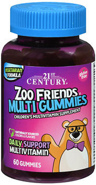 21st Century Zoo Friends Children's Multivitamin Gummies - 60 ct