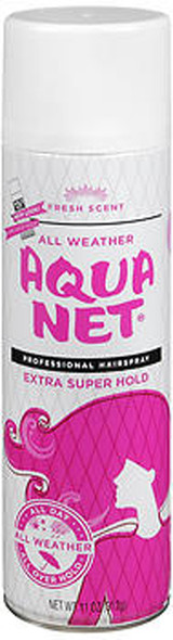 Aqua Net Professional Hair Spray Extra Super Hold Fresh Fragrance - 11 oz