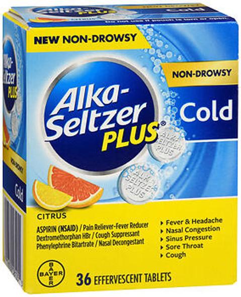 Alka-Seltzer Plus Cold Effervescent Tablets Non-Drowsy Citrus - 20 ct