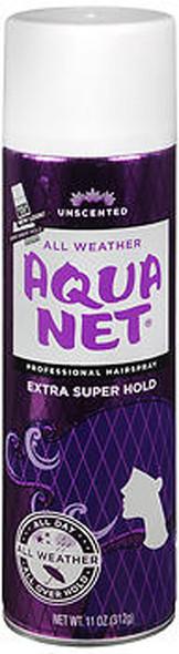 Aqua Net Extra Super Hold Professional Hair Spray Unscented - 11 oz