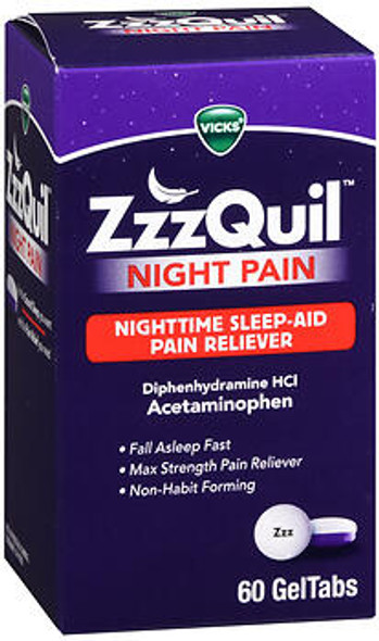 Vicks ZzzQuil Night Pain GelTabs - 60 ct