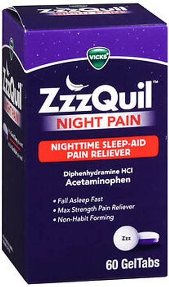 Vicks ZzzQuil Night Pain GelTabs - 60 ct