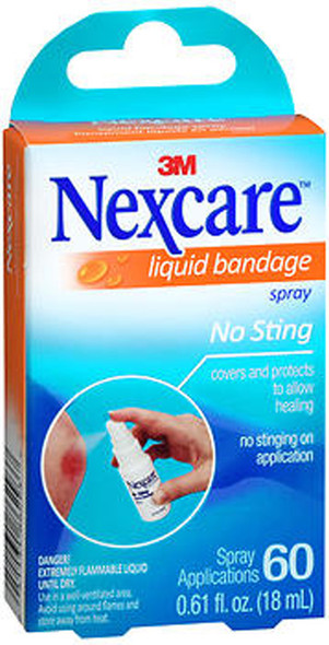 Nexcare No Sting Liquid Bandage Spray - 0.61 oz