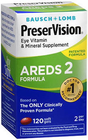 Bausch & Lomb PreserVision AREDS 2 Formula Soft Gels - 120 Softgels