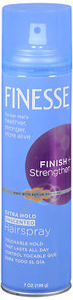 Finesse Finish + Strengthen Hairspray Extra Hold Unscented - 7 oz