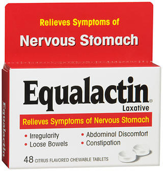 Equalactin Laxative Chewable Tablets Citrus Flavored - 48 ct
