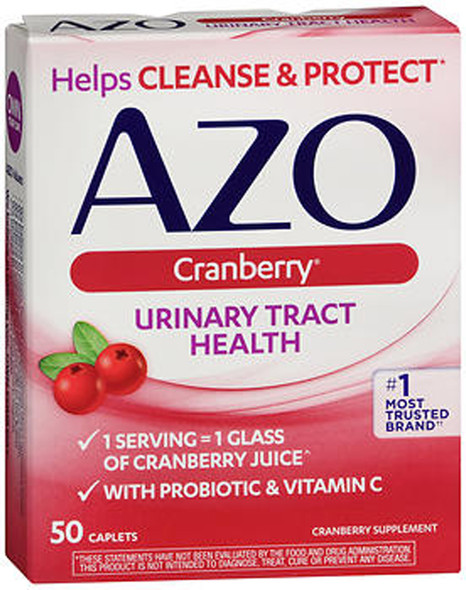 Azo Cranberry Urinary Tract Health Dietary Supplement Caplets - 50 Ct.