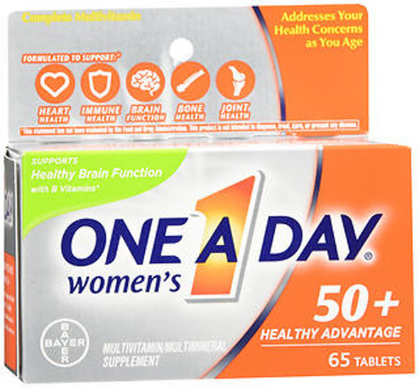 One A Day Women's 50+ Healthy Advantage Multivitamin/Multimineral Supplement Tablets - 65 ct