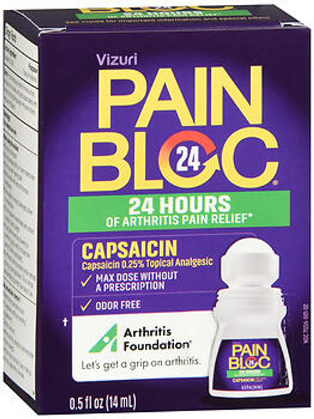 PainBloc-24 Roll-On Pain Reliever - 0.5 oz