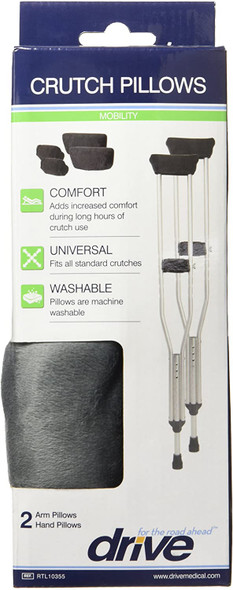 Drive Medical Crutch Pillows Accessory Kit, Gray