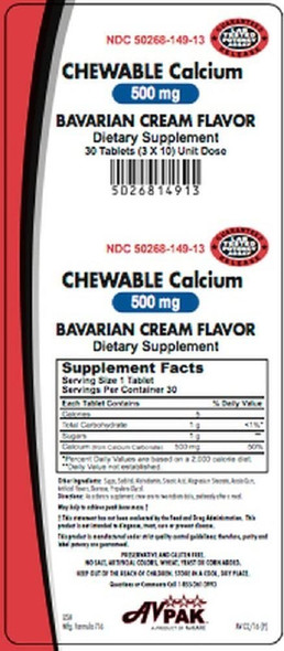 Calcium Carbonate (Chewable) 500mg Tablet 30 Count