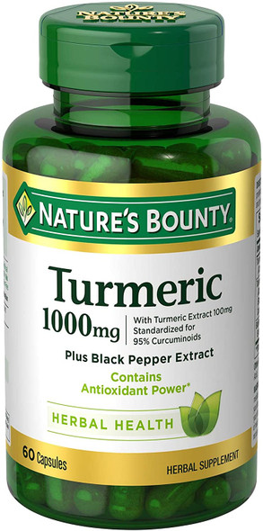 Nature's Bounty Turmeric 1000mg, 60 Capsules
