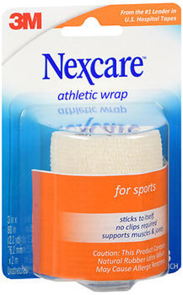 Nexcare Athletic Wrap, White - 3 Inches X 2.2 Yards
