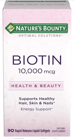 Nature's Bounty Biotin 10,000 mcg 90 ct.