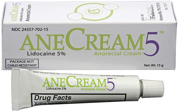 AneCream5 – Topical Pain Relief with Lidocaine, 5%, 15 Grams