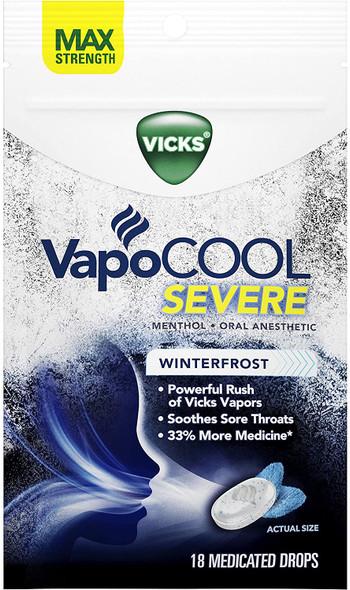 Vicks Vapo Cool Severe Medicated Drops 18ct.