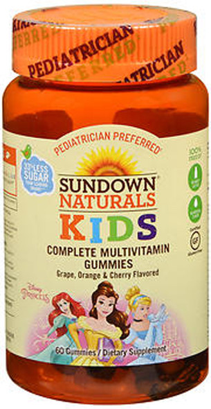 Sundown Naturals Kids Princess Complete Multivitamin Gummies - 60 ct