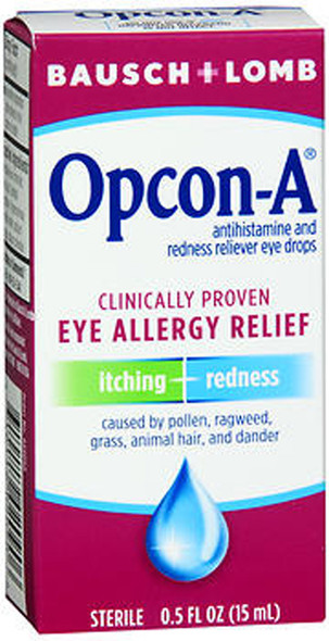 Bausch + Lomb Opcon-A Eye Drops Allergy Relief - 0.5 oz