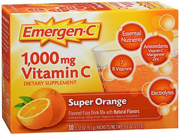 Emergen-C Vitamin C Fizzy Drink Mix Super Orange - 30 packets