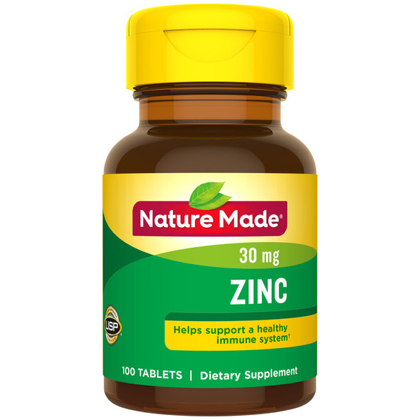 Nature Made Zinc 30 mg - 100 Tablets
