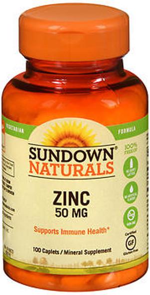 Sundown Naturals Zinc 50 mg Caplets - 100 ct