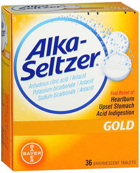Alka-Seltzer Effervescent Gold - 36 Tablets