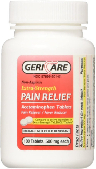 Extra Strength Acetaminophen Tablets 500mg - 100 Count
