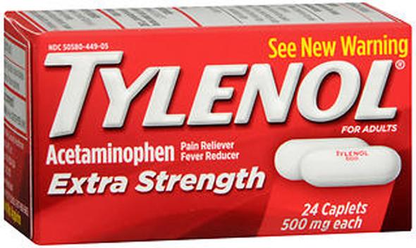 Tylenol Extra Strength Caplets, 500 mg - 24 ct