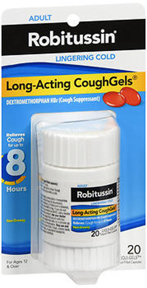 Robitussin Long-Acting CoughGels - 20 ct