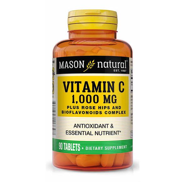 Mason Vitamins C 1000 mg Tablets Rose Hips/Lemon Bioflavonoids - 90ct