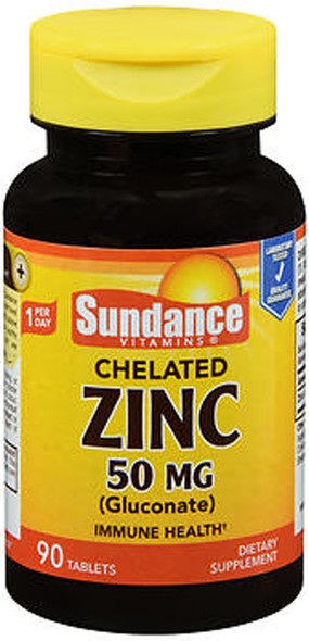 Sundance Vitamins Chelated Zinc 50 mg (Gluconate) - 90 Tablets