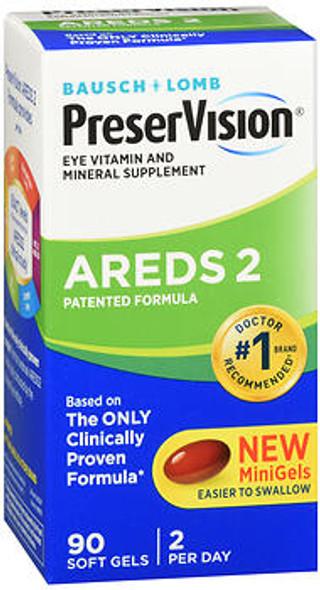 Bausch + Lomb PreserVision AREDS 2 Formula Eye Vitamin & Mineral Supplement MiniGels Soft Gels - 90 ct