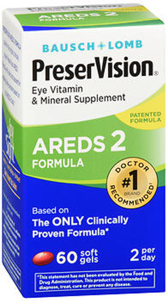 Bausch + Lomb PreserVision AREDS 2 MiniGels - 60 ct