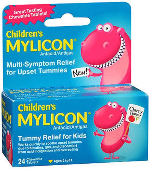 Mylicon Children's Chewable Tablets Cherry Flavor - 24 ct
