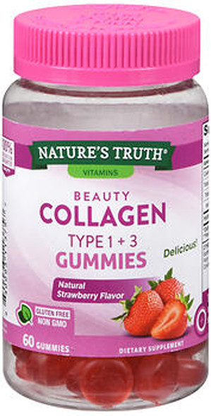 Nature's Truth Beauty Collagen Type 1 + 3 Gummies - 60 ct