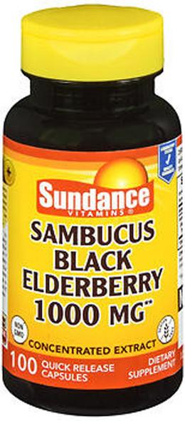 Sundance Vitamins Sambucus Black Elderberry 1000 mg Quick Release Capsules - 100 ct