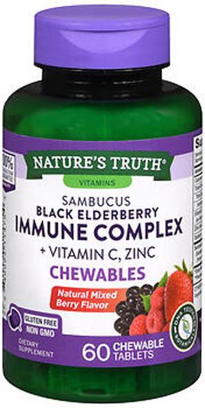 Nature's Truth Sambucus Black Elderberry + Vitamin C & Zinc Berry Flavor - 50 Gummies