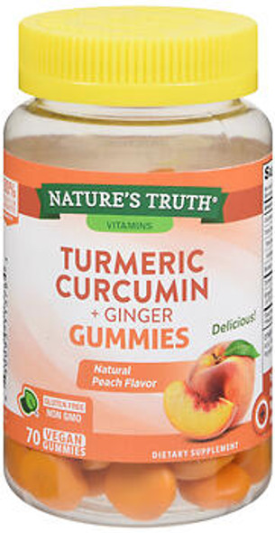 Nature's Truth Turmeric Curcumin + Ginger Gummies - 70 ct