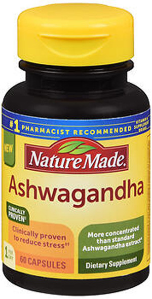 Nature Made Ashwagandha Capsules - 60 Ct