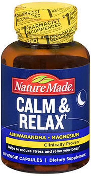 Nature Made Calm & Relax Veggie Capsules - 60 Ct