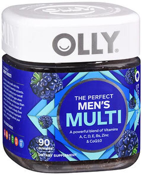 Olly The Perfect Men's Multi Gummies Blackberry Blitz - 90 ct