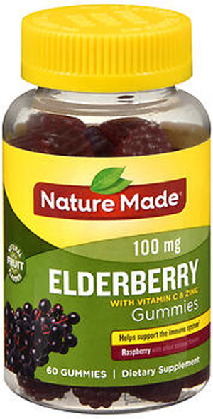 Nature Made Elderberry 100 mg Gummies Raspberry - 60 ct