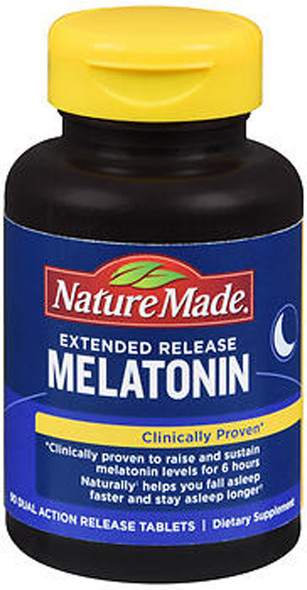 Nature Made Extended Release Melatonin Dual Action Release Tablets - 90 ct