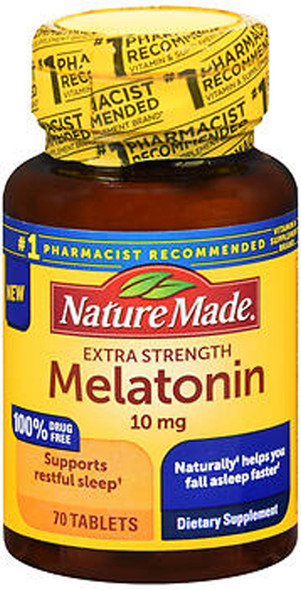 Nature Made Melatonin 10 mg Tablets Extra Strength - 70 ct