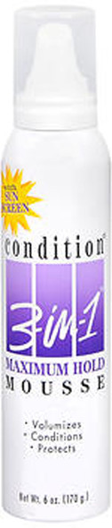 Condition 3-in-1 Mousse, Maximum Hold - 6 oz