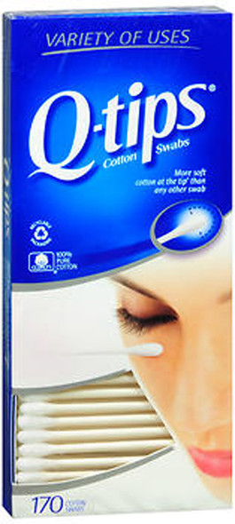 Q-tips Cotton Swabs - 170 ct