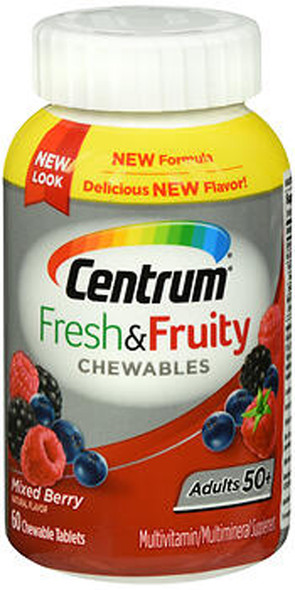 Centrum Fresh & Fruity Chewables Adults 50+ Mixed Berry - 60 ct