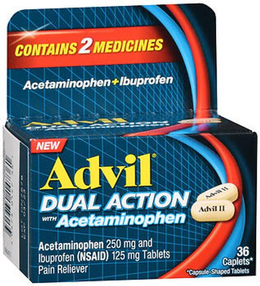 Advil Dual Action Acetaminophen + Ibuprofen Caplets - 36 ct