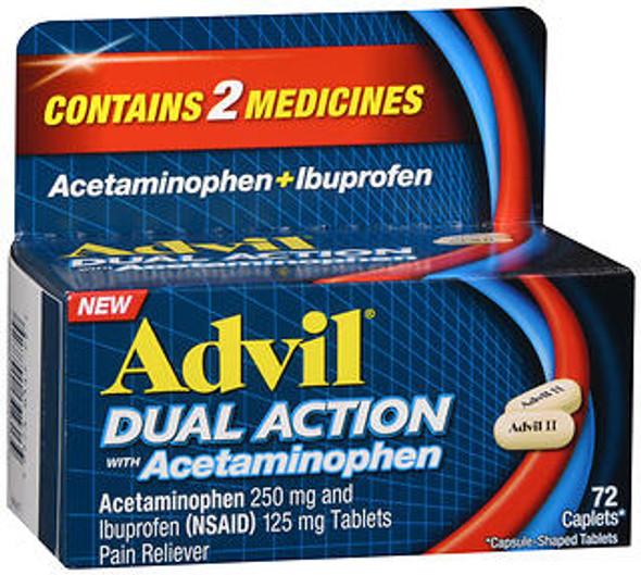 Advil Dual Action Acetaminophen + Ibuprofen Caplets - 72 ct